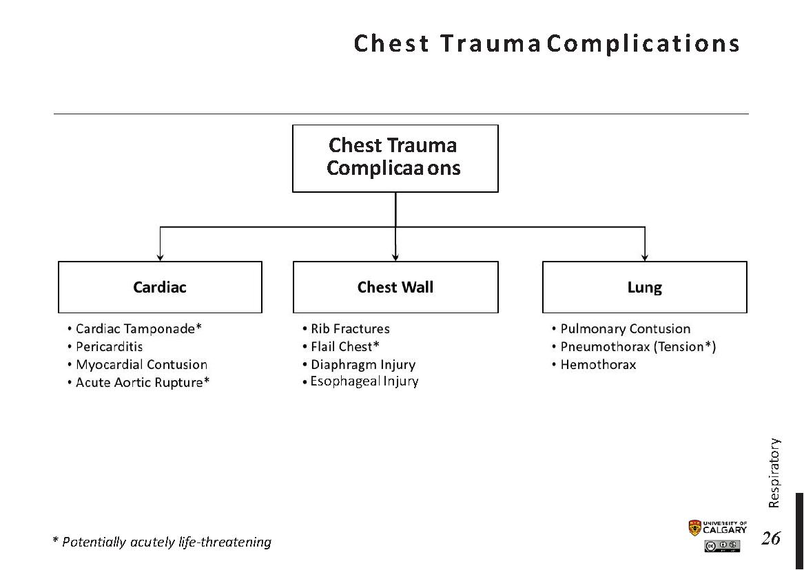 CHEST TRAUMA COMPLICATIONS Scheme