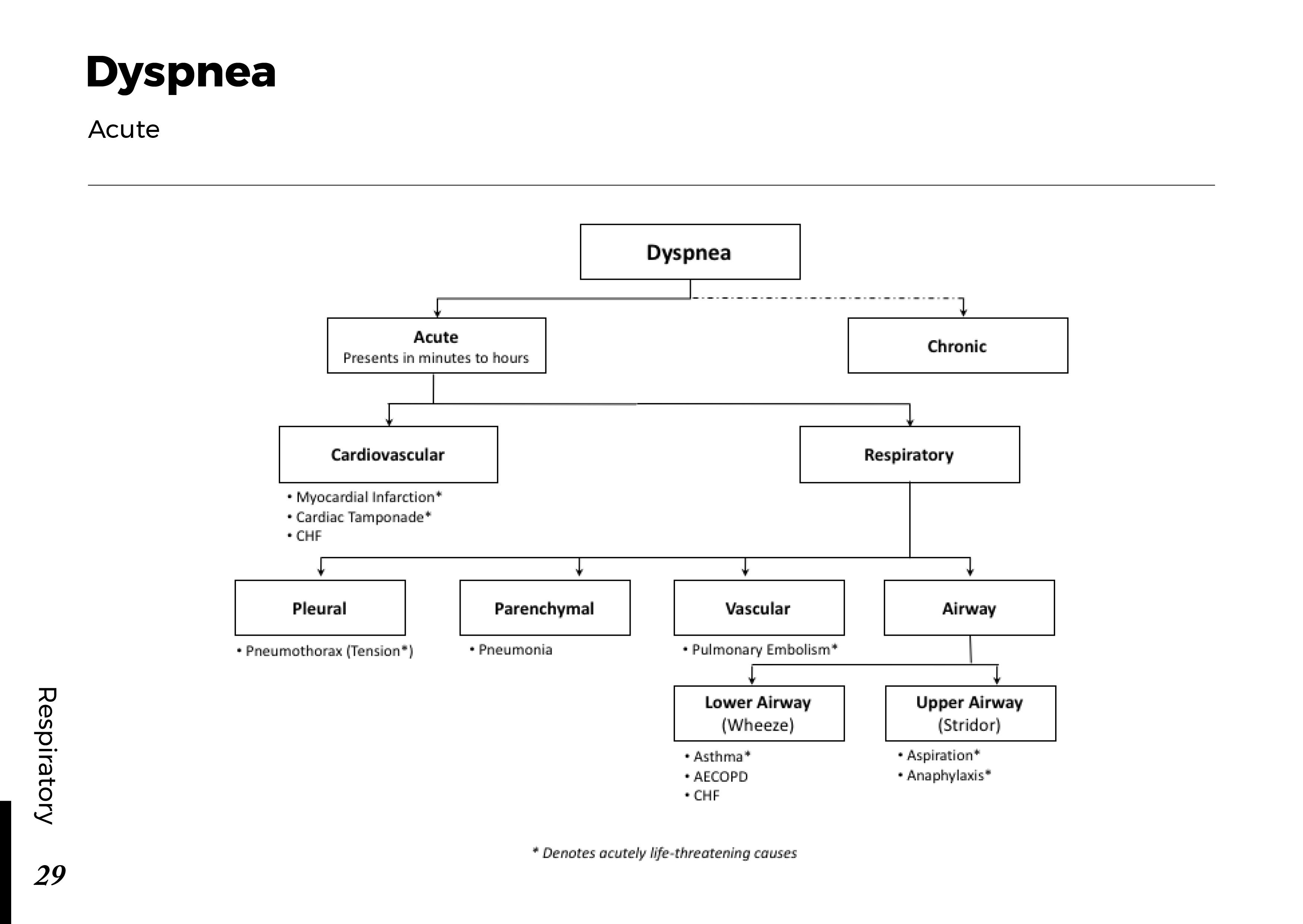DYSPNEA: Acute Scheme
