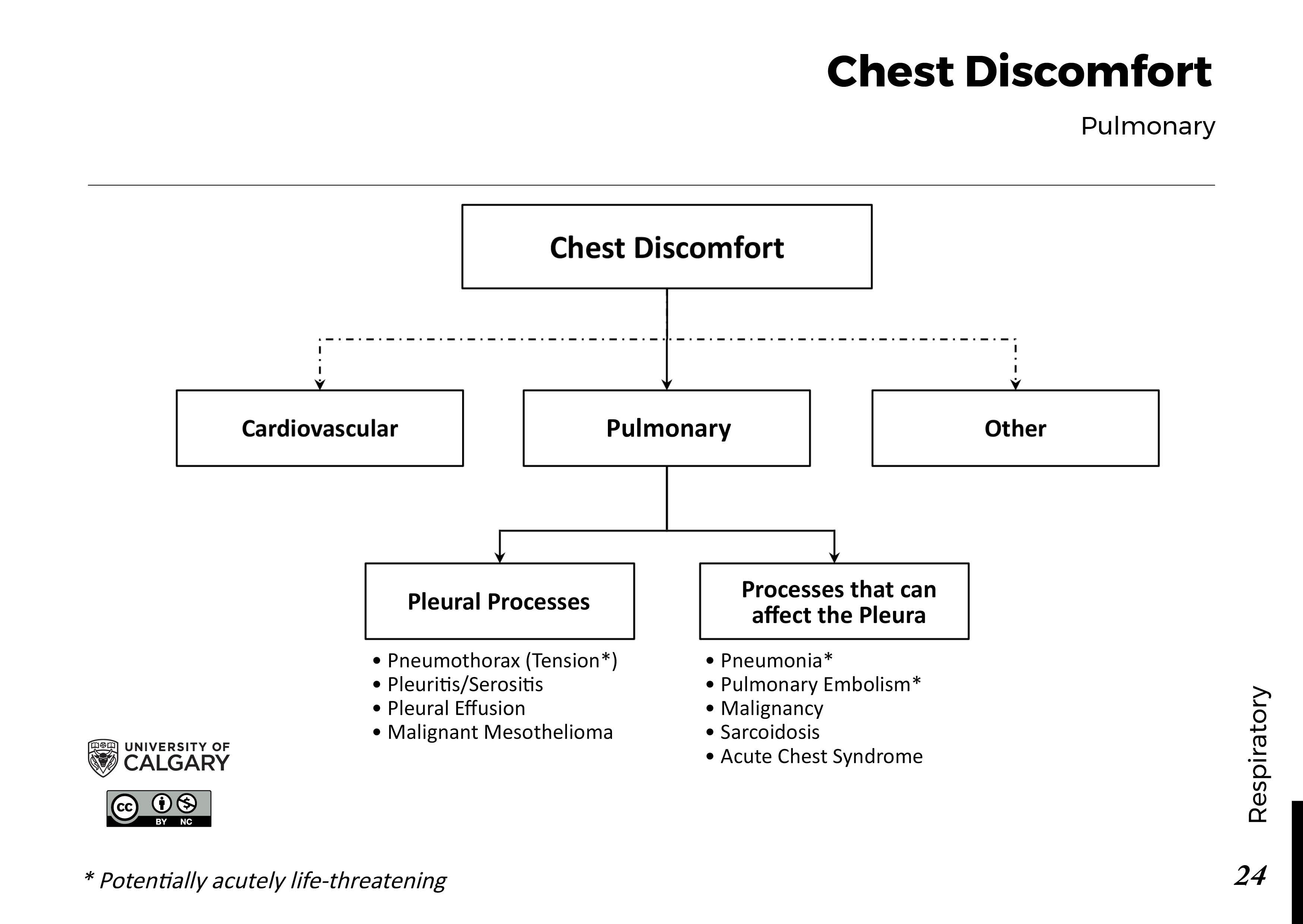 CHEST DISCOMFORT: Pulmonary/Mediastinal Scheme
