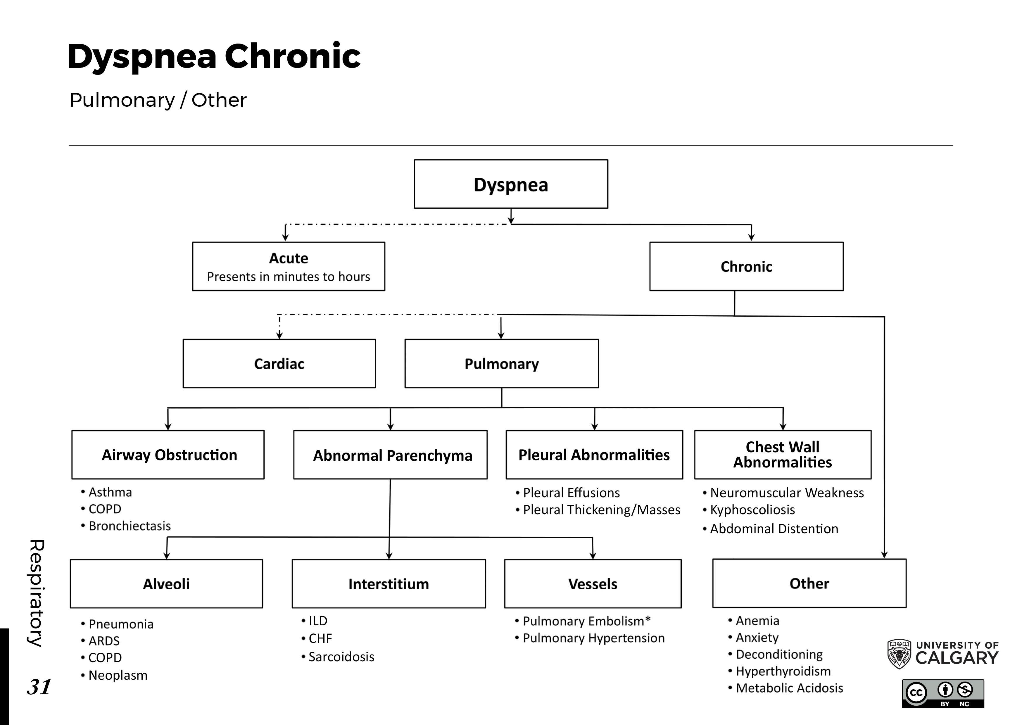 DYSPNEA: Chronic – Pulmonary/Other Scheme